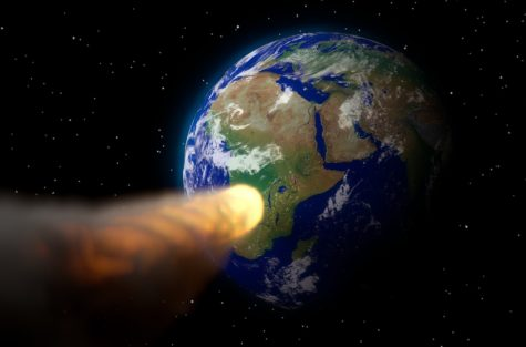 Asteroid targeting Earth