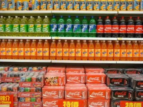 Soda aisle at supermarket