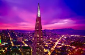 Skyline of San Francisco featuring Transamerica Pyramid