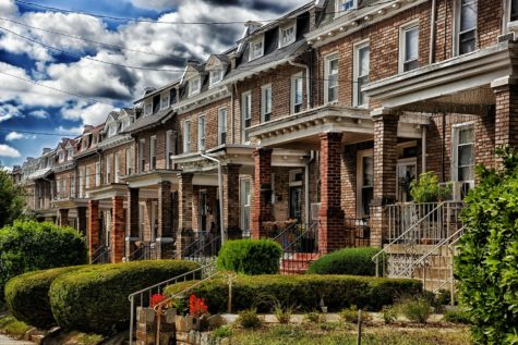 Row homes in Washington, DC