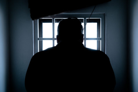 Inmate at prison window