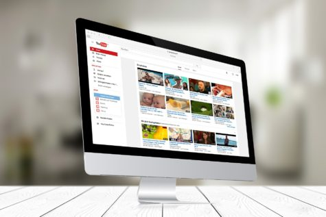 YouTube on a desktop screen