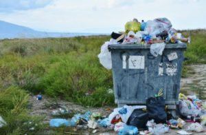 Garbage at landfill