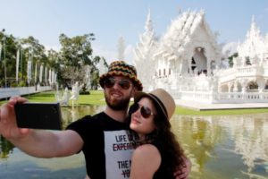 Couple taking a selfie in Thailand
