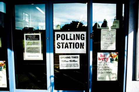 Polling station for voting on Election Day