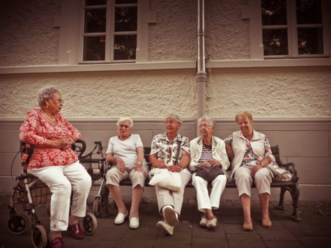 Group of elderly women