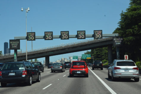 Variable Advisory Speed Limit signs on St. Louis highway