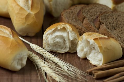 Bread rolls, grains