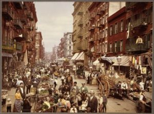 Image showing New York City's Mulberry Street circa 1890