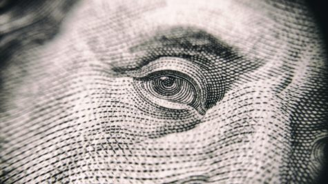 Ben Franklin's eye on $100 bill