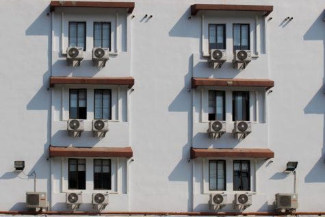 Air conditioners outside windows