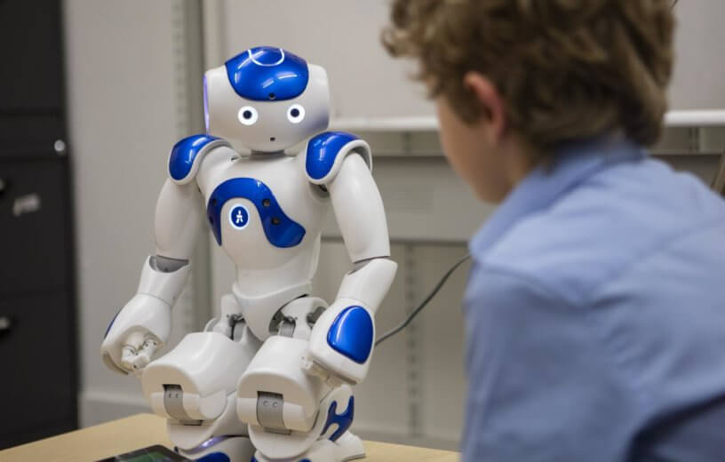 Robot with child study
