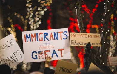 """Immigrants make America great"" poster"