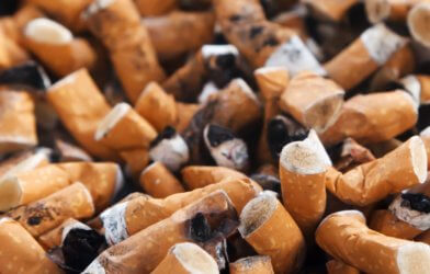 Cigarettes, cigarette butts