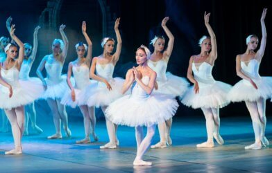 Ballerinas on stage