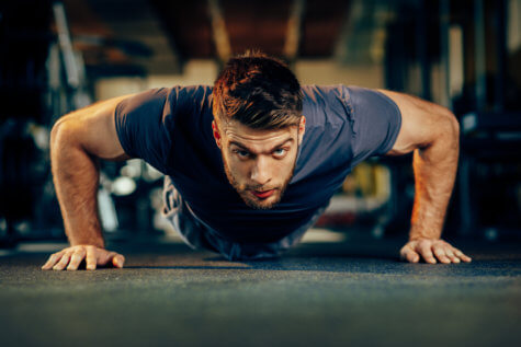Man doing push-ups