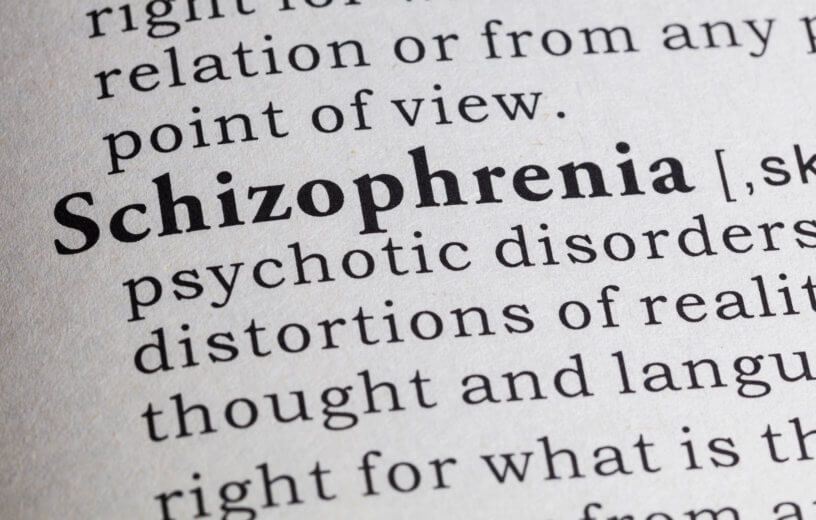 Dictionary definition of the word Schizophrenia