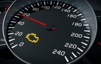 Check Engine light on speedometer