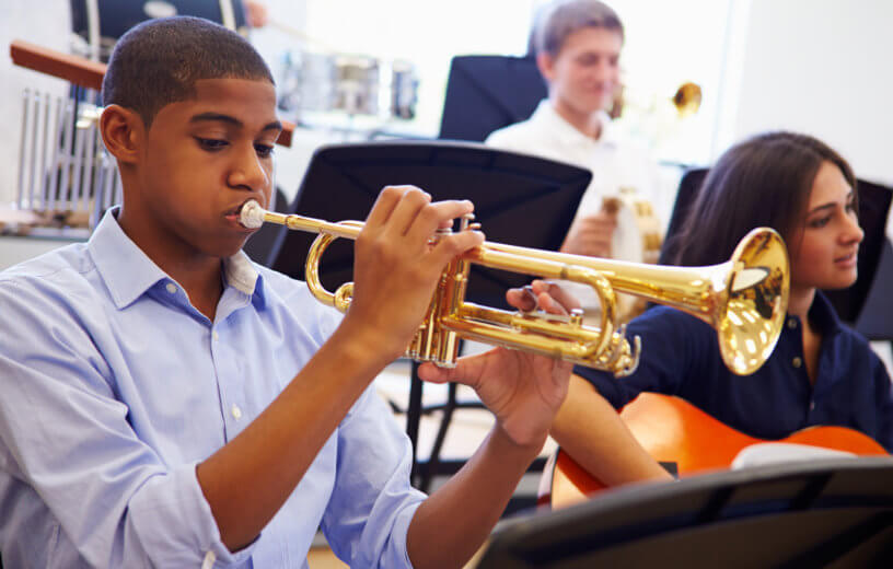 Study: Students Who Play Instruments, Take Music Classes