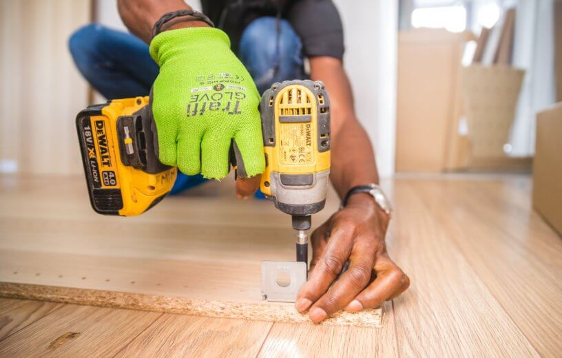 Carpenter or person doing home improvement construction