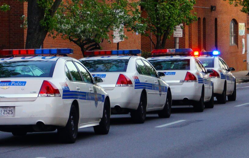 Baltimore City police cars