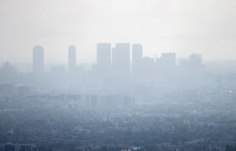 Smog, air pollution in Los Angeles