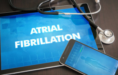 Atrial fibrillation, irregular heartbeat
