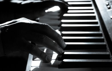 Person playing the piano