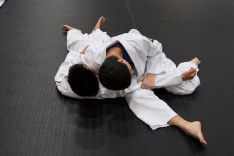 Children practicing Judo