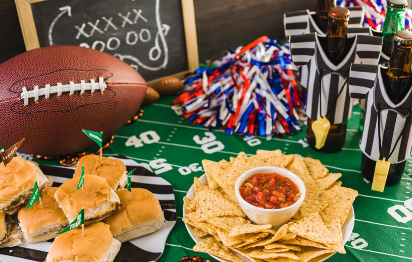Super Bowl or football party snacks
