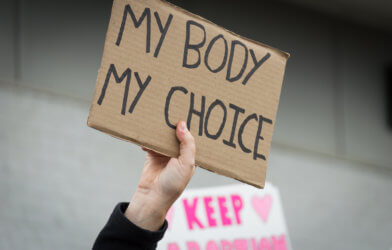 Abortion protest sign