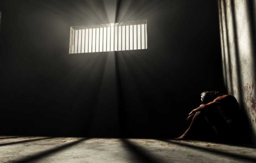 Inmate in solitary confinement