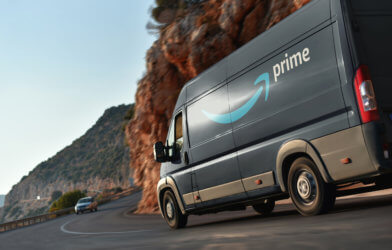 Amazon Prime delivery van