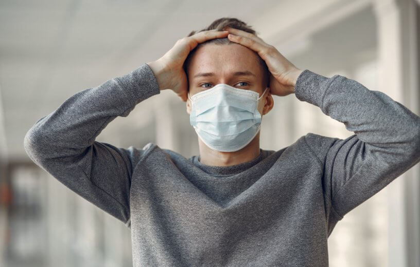 Man in mask during coronavirus pandemic