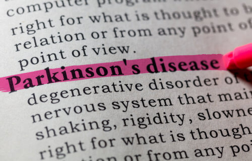 Parkinson's disease in dictionary