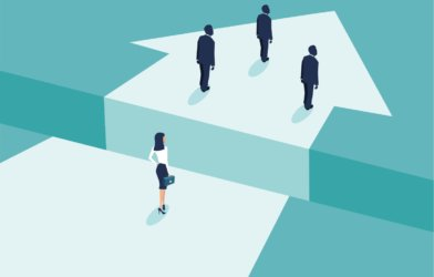 Gender gap among men, women in business
