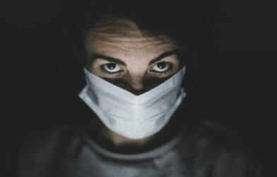 Person wearing mask during coronavirus / COVID-19 outbreak