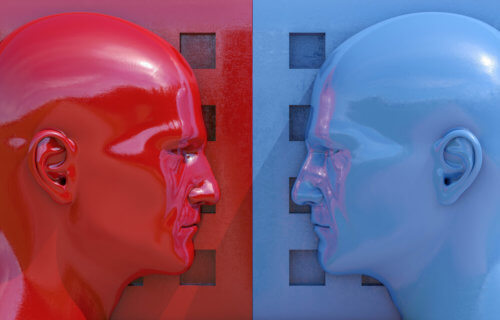 Political minds: Blue vs. Red, Democrat vs. Republican, Liberal vs. Conservative