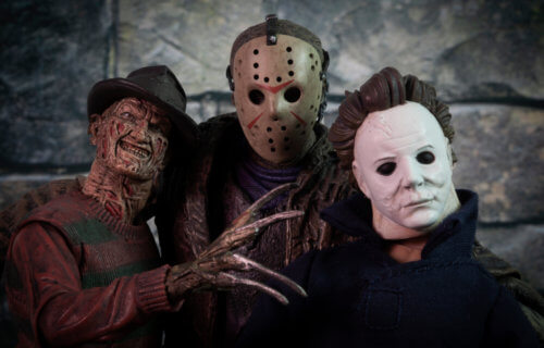 Freddy Krueger (A Nightmare on Elm Street), Jason Voorhees (Friday the 13th), MIchael Myers (Halloween)