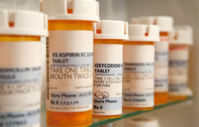 Prescription drugs, medications in medicine cabinet; Opioids