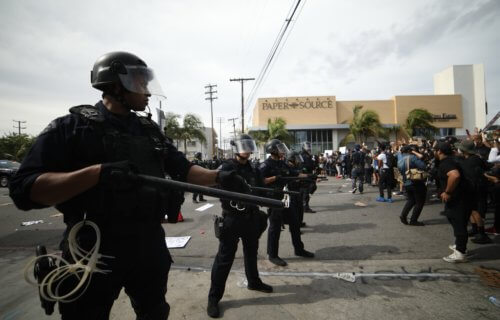 Los Angeles police officers at riot