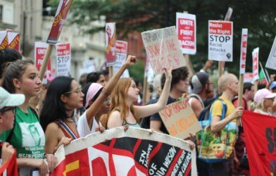 Civil unrest: Young Americans and millennials protest in Washington, DC