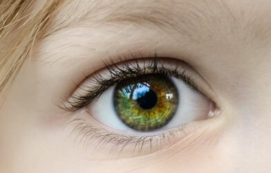Closeup of child's eye