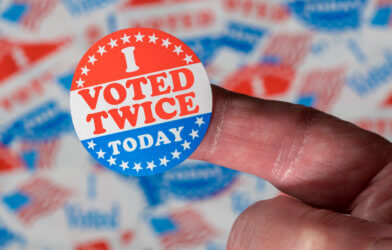Election Voter Fraud: 'I Voted Twice Today' Sticker