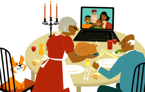 Virtual Thanksgiving: Family has holiday dinner on video chat