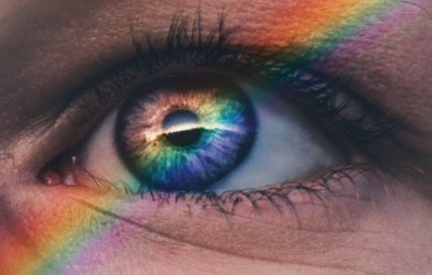 Rainbow over eye - LGBT pride