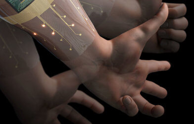 Wearable device detects hand gestures