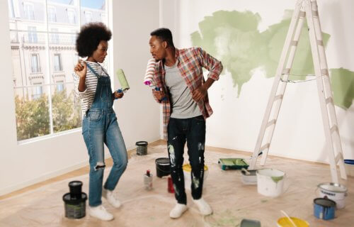 Couple redecorating and painting their house