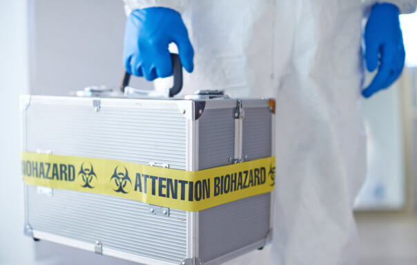 Biohazard: Suitcase with microbiological lweapon