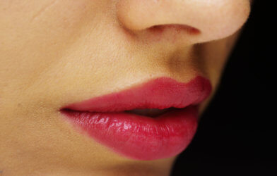 Woman with luscious lips